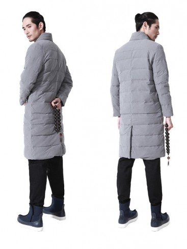 Traditional Grey Color Men's Long Gown