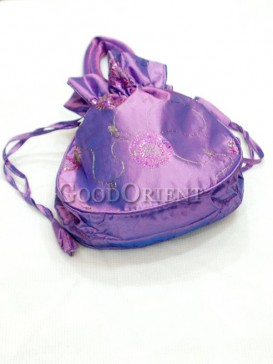 Purple Sequins Hand Bag