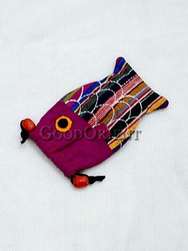 Lovely Polychrome Fish Shape Cellphone Bag