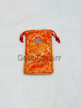 Saffron Yellow Classical Floral Cellphone Bag