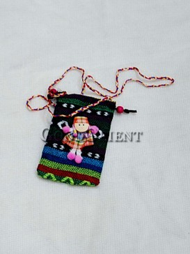 Happy Girl Folk Handicraft Cellphone Bag