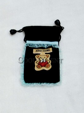 Black Happy Bear Cellphone Bag