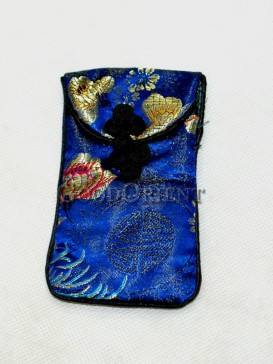 Navy Blue Classical Pattern Cellphone Bag