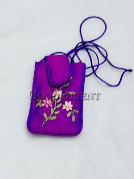 Bright Pulple Floral Cellphone Bag