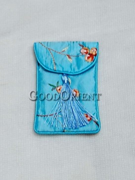Elegant Lignt Blue Floral Cellphone Bag