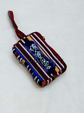 Brilliant Colorful Candy Strip Cellphone Bag