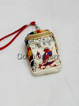 White with Littele Cap Dongba Cellphone Bag