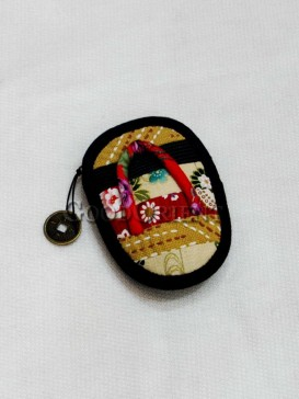 Mini Calceiform Hanfmade Cotton Cellphone Bag