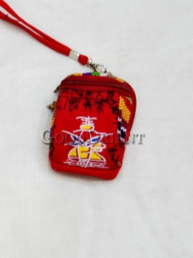 Red with Littele Cap Dongba Cellphone Bag