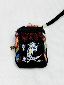 Black with Littele Cap Dongba Cellphone Bag