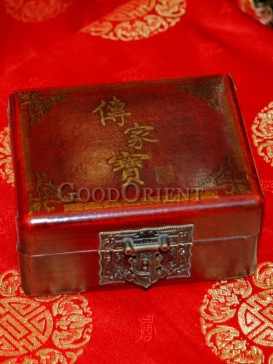 Family Heirloom Words Wooden Cosmetic Cases---Middle Size