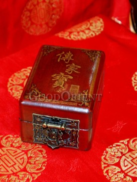 Family Heirloom Words Wooden Cosmetic Cases---Small Size