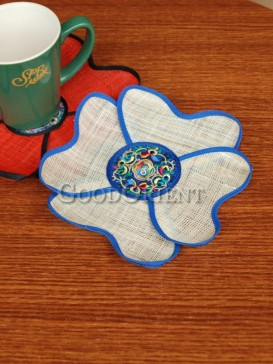 Four-petal flower Coaster