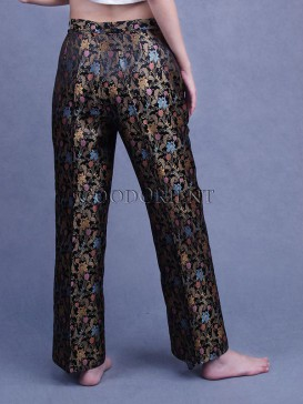 Golden Floral Pants
