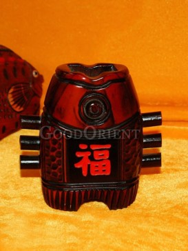 Old wooden cask shape fish body design Decorative Holder/Container
