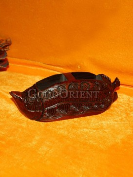 Two openings special Fish body Pen holder