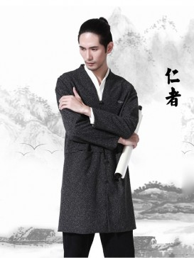 Asian Style Black Color Men's Clothing