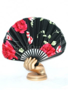 Red Roses Fan with Black Base