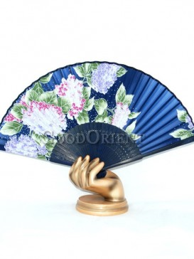 Dark Blue Grape Oriental Fan