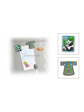 Rubber Refrigerator Magnets---Cheongsam