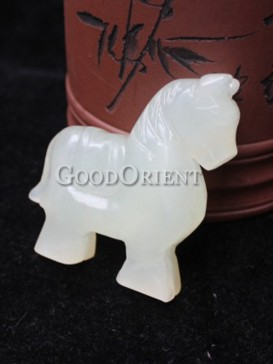 Small Jade Decoration Series---Standing Horse