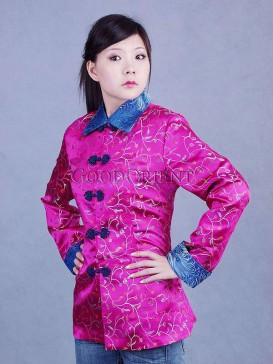 Smart Fuchsia Floral Jacket